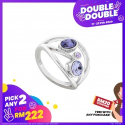 [Double-Double] Crystals Remix Ring with Crystals From Swarovski®