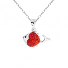 Joe The Fish Pendant with Crystals From Swarovski®