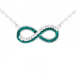 Dual Infinite Necklace With Crystals From Swarovski®