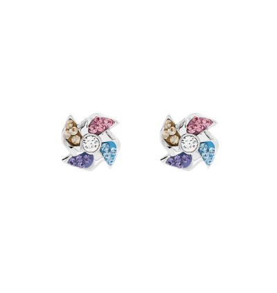 Trendy Windmill Earrings With Crystals From Swarovski®