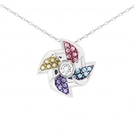Elegant Windmill Pendant With Crystals From Swarovski®