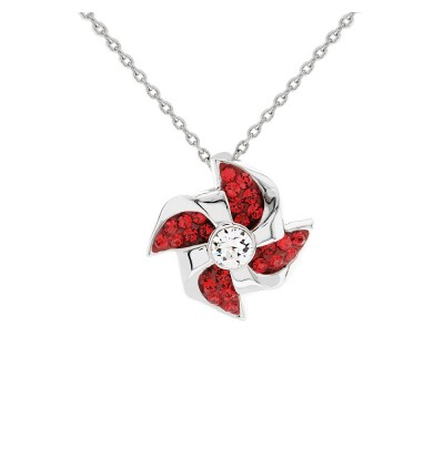 Elegant Windmill Pendant With Crystals From Swarovski®