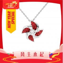 [Ang Ang!] Elegant Windmill Pendant With Crystals From Swarovski®