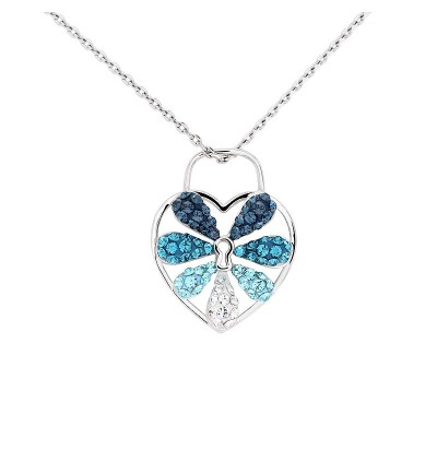Creative Love Lock Pendant With Crystals From Swarovski®