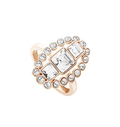 Beautiful Princess Cut Ring With Crystals From Swarovski®