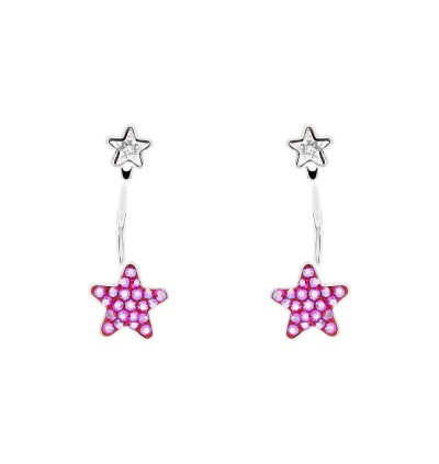 Sparkling Starry Star Earrings With Crystals From Swarovski®