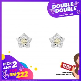 [Double-Double] Beautiful Peony Earrings With Crystals From Swarovski®