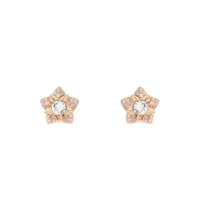 Beautiful Peony Earrings With Crystals From Swarovski®
