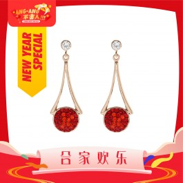 [Ang Ang!] Hommie Dangling Earrings With Crystals From Swarovski®