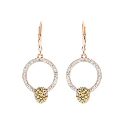 Elegant Coin Hook Earrings With Crystals From Swarovski®
