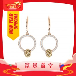 [Ang Ang!] Elegant Coin Hook Earrings With Crystals From Swarovski®