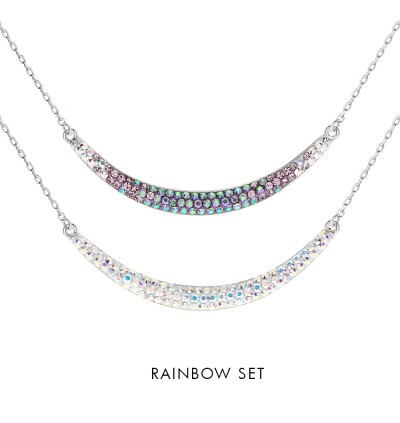 [Double-Double] Moon Necklace with Crystals from Swarovski®