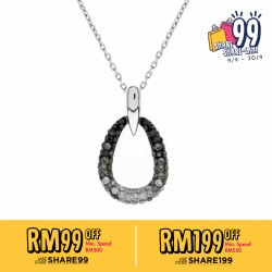 Drop Pendant With Crystals From Swarovski®