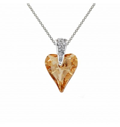 Wild Heart Pendant With Crystals From Swarovski®