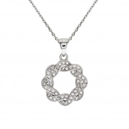 Weave Flower Pendant With Crystals From Swarovski®