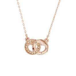 Chic Heart Necklace with Crystals From Swarovski®