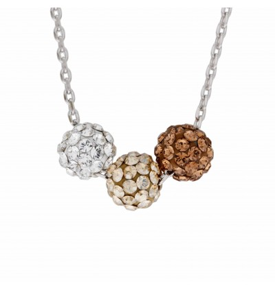 Tri Lollipop Necklace With Crystals From Swarovski®