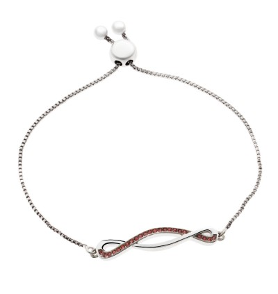 Twisted Bracelet With Crystals From Swarovski®