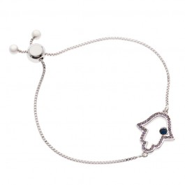 Hamsa Hand Bracelet With Crystals From Swarovski®