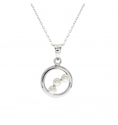 Royal Tri Pearl Pendant With Crystal Pearl From Swarovski®