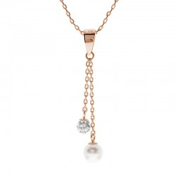 Fancy Dangling Pendant With Crystal Pearl From Swarovski®