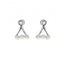 Dainty Earring With Crystal Pearls From Swarovski®