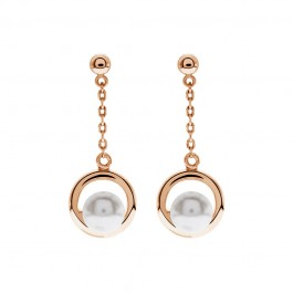 Dangling Eye Earring With Crystal Pearls From Swarovski®