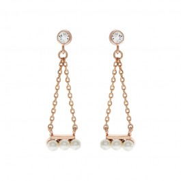 Stylish Triangle Earring With Crystal Pearls From Swarovski®