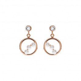Royal Tri Earring With Crystal Pearls From Swarovski®