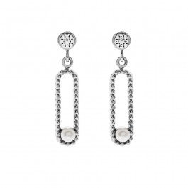 Glitzy Earring With Crystal Pearls From Swarovski®