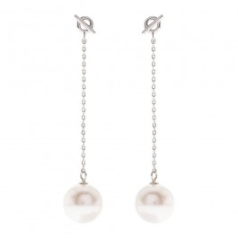 Simple Dangling Earring With Crystal Pearls From Swarovski®