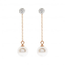 Versatile Dangling Earring With Crystal Pearls From Swarovski®