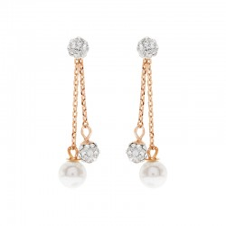 Versatile Double Dangling Earring With Crystal Pearls From Swarovski®