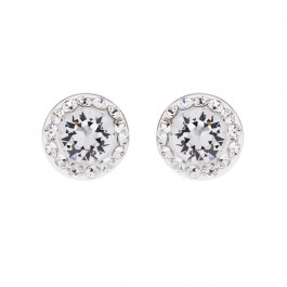 Shiny Simple Earring With Crystals From Swarovski®