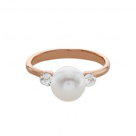 Streamlined Ring With Crystal Pearls From Swarovski®