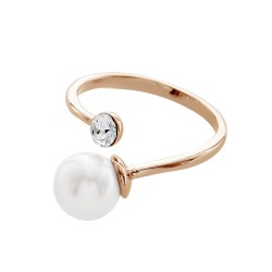 Unique Ring With Crystal Pearls From Swarovski®