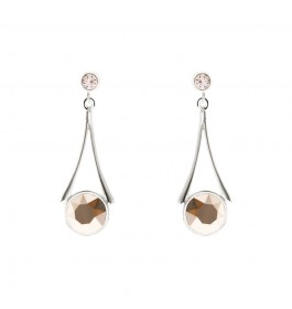Round Under The Tower Earring With Crystals From Swarovski®