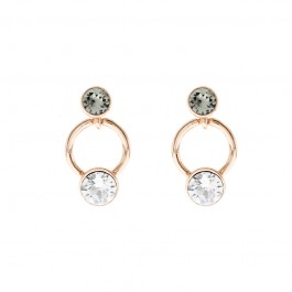 Fancy Triple Round Earring With Crystals From Swarovski®