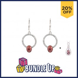 Fancy Round Earring With Crystals From Swarovski®