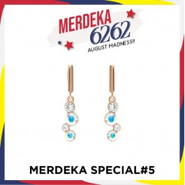 [MS#5] String Of Stone Earring With Crystals From Swarovski®