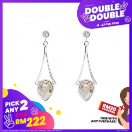 [Double-Double] Defender Of Tower Earring With Crystals From Swarovski®