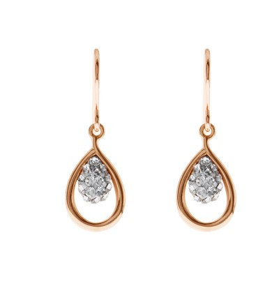 Shimmering Water Drop Earring With Crystals From Swarovski®