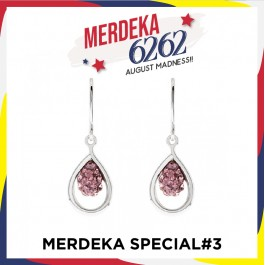 [MS#3] Shimmering Water Drop Earring With Crystals From Swarovski®