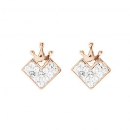 Queen Of Heart Earring With Crystals From Swarovski®