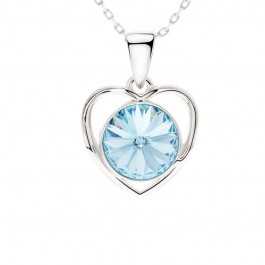 Center Of Heart Pendant With Crystals From Swarovski®