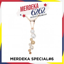 [MS#6] String Of Stone Pendant With Crystals From Swarovski®