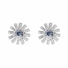 Outstanding Flower Earring With Crystals From Swarovski®