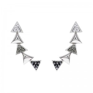 String Of Triangle Earring With Crystals From Swarovski