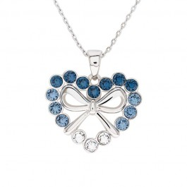 Ribbon Heart Pendant With Crystals From Swarovski®