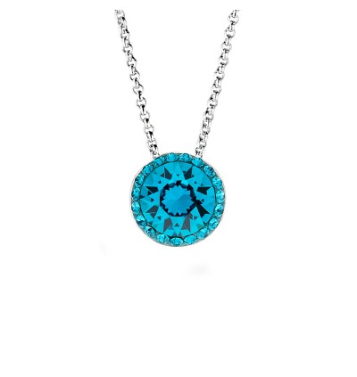 Classic Round Pendant with Crystals From Swarovski®
